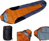 Details about  Outdoor Camping Winter Mummy Shaped Sleeping Bag Hiking Traveling W/Carrying Bag
