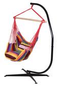 Hammock C Stand Solid Steel+Hanging Rope Chair Air Outdoor Swing Yard Patio Tree