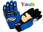 TMS Kids/Youth Motocross ATV Gloves - Blue