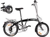 "20"" Black Folding Bike 6 Speed Bike Fold Bicycle Storage College School Sports"