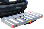 "49"" Aluminum RV Cargo Luggage Carrier Basket Water Tank Hauler 2"" Hitch Mount"