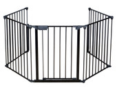 Baby Safety Fence Hearth Gate BBQ Metal Fire Gate Fireplace Pet Dog Cat Fence