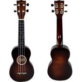 "21"" Soprano Ukulele Basswood Fingerboard & Bridge 12 Frets 4 String w/Carry Bag"