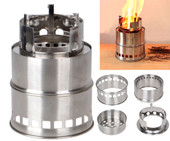 Light Weight Portable Outdoor Camping Wood Stove Cooking Survival Burning Camp