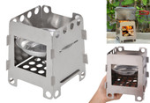 Outdoor Cooking Camping Stainless Steel Folding Wood Stove Pocket Camping Stove