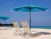 9' Aluminum Outdoor Yard Beach Patio Umbrella Crank Tilt Sunshade Cover Blue New