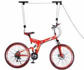 Bike Bicycle Steel Lift Ceiling Mounted Hoist Storage Garage Hanger Pulley Rack