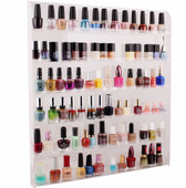 Large Acrylic Clear Nail Polish Organizer Display Wall Rack Fit 90 to 120 Bottle