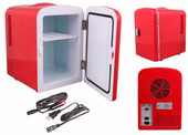 Portable Mini 6 Can Beverage Fridge Cooler & Warmer Car Boat Home AC/DC w/Shelf