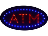 "19""x10"" Ultra Bright LED Neon Light Animated Motion ON/OFF ATM Machine Open Sign"