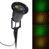 Waterproof Xmas Red Green Laser Projector Out Door Garden Landscape LED Light