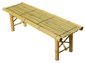 Foldable Bamboo Bench Tropical Coffee Table Bench Room Decoration Patio Backyard