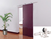 5FT European Modern Satin Stainless Steel Sliding Barn Wood Door Closet Hardware