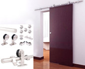 8FT European Modern Satin Stainless Steel Sliding Barn Wood Door Closet Hardware