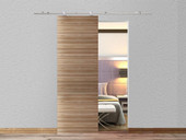 6.6FT Interior Modern Stainless Steel Sliding Barn Wood Door Closet Hardware Set