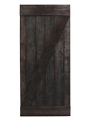 "36""x84"" Solid Core Wood Plank Dark Walnut Knotty Pine Sliding Barn Painted Door"