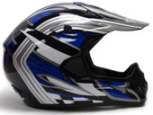 Adult Dirt Bike ATV Motocross Off-Road Helmet - Blue/Black