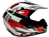 Adult Dirt Bike ATV Motocross Off-Road Helmet - Red/Black