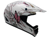 PINK BUTTERFLY DIRT BIKE ATV MOTOCROSS HELMET MX GEAR