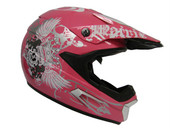 ROYAL PINK SUN VISOR MOTOCROSS ATV UTV RACING HELMET
