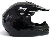 TMS GLOSS BLACK DIRT BIKE ATV MOTOCROSS MX HELMET