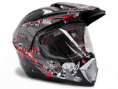 TMS Motocross Dual Sport Helmet-Skull Black