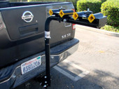 """4 BIKE SWING DOWN 2"""" HITCH MOUNTED CARRIER BICYCLE RACK"""