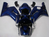 SOLID BLUE FAIRING BODYWORK COMPLETE KIT FOR KAWASAKI NINJA ZX-6R 636 ZX6R 03-04