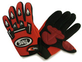 Youth Kid Motocross dirt bike ATV Off-Road Gloves Red
