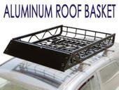 "50x39"" Black Aluminum Car SUV Roof Top Mount Rack Basket Cargo Carrier"