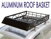 "50x39"" Black Aluminum Car SUV Roof Top Mount Rack Basket Cargo Carrier Universal"