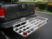 "60"" x 22"" Aluminum RV Hitch Mount Cargo Carrier Generator"
