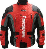 Men&#039;s Red Enduro Armor Jacket Motorcycle Touring Dual Sport Dirt Bike MX ATV