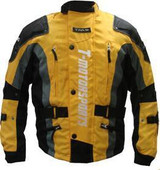 Mens Yellow Enduro Armor Jacket Motorcycle Touring Dual Sport Dirt Bike ATV