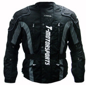 TMS Black Motorcycle Enduro Jacket MX Dual Sport ATV