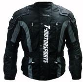 TMS Black Motorcycle Enduro Jacket MX Dual Sport ATV