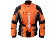 Mens Orange Enduro Armor Jacket Motorcycle Touring Dual Sport Dirt Bike ATV