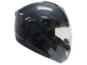 CARBON FIBER FULL FACE MODULAR MOTORCYCLE FLIP UP HELMET