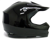 YOUTH GLOSS BLACK DIRT BIKE ATV MOTOCROSS HELMET MX