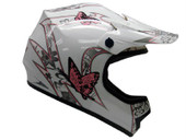 YOUTH PINK BUTTERFLY MOTOCROSS HELMET MX ATV DIRTBIKE