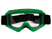 Adult GREEN GOGGLES Motocross MX Dirt Bike ATV Off-Road