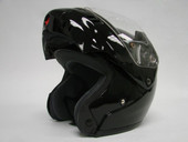 Modular Flip Up Motorcycle Full Face Helmet Black sz