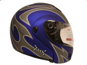 BLUE MODULAR FLIP UP FULL FACE MOTORCYCLE HELMET DOT