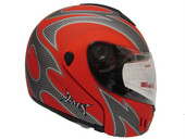 MATTE RED MOTORCYCLE MODULAR FLIP-UP FULL FACE HELMET