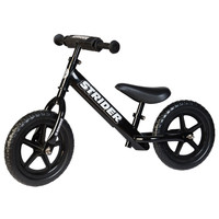 Black 12 Sport  Strider Balance Bike