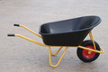 160 Litre Black Poly Wheelbarrow