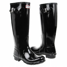 Pair of Hunter Original Gloss Wellington Boots Black