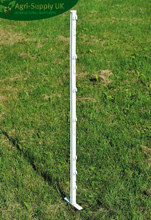 3ft White Double Fence Posts