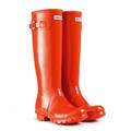 A Pair of Hunter Original Gloss Tall Wellington Boot Clementine