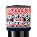Hunter Fairisle Pattern Cuff Welly Socks Multi Red/Navy